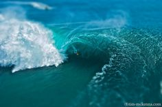Teahupoo's Bowl tilt-shift by Tim McKenna