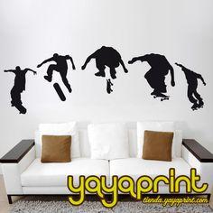 Vinilo decorativo pared Skate. Hecho en España. Yayaprint.com Vinilos de  deportes 40187884afe30
