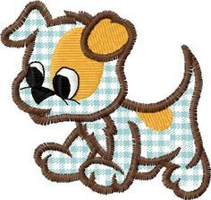 "This free embroidery design is called ""funny dog""."