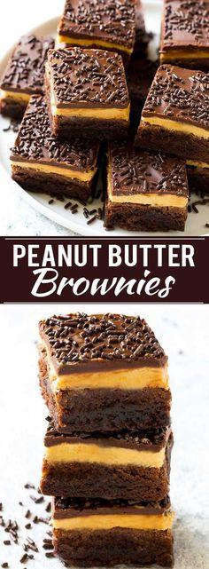 Peanut Butter Brownies Recipe   Layered Brownies   Peanut Butter Truffle Brownies