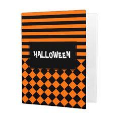 Halloween mix pattern mini binder - stripes gifts cyo unique style