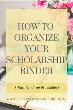 How to Organize Your Scholarship Binder (plus free printables) from Letters From Sunshine (www.lettersfromsunshine.com)