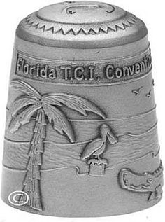 Sterling Silver Thimble - TCI - Florida; fun convention - I made that one.