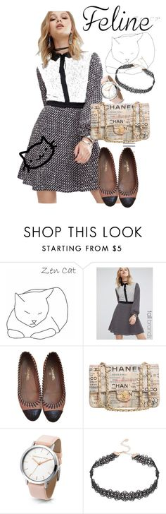 """""""cat"""" by masayuki4499 ❤ liked on Polyvore featuring Glamorous, Chanel and Lipsy"""
