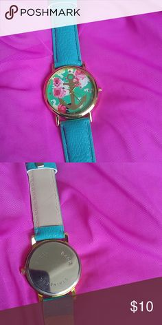 Brand new super cute watch New, never worn. Large dial, adorable anchor and  floral motif. Accessories Watches