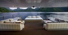 The superb aft deck of luxury yacht Big Fish - Ultra Marine Yacht Charter