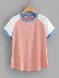 Shop T-Shirts online. SHEIN offers T-Shirts & more to fit your fashionable needs. Teenager Outfits, Girl Outfits, Cute Outfits, Fashion Outfits, Tank Top Shirt, T Shirt, Girls Tees, Cute Shirts, Tshirts Online