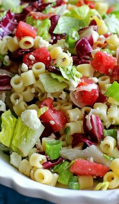 Portillo's Chopped Salad - turkey bacon, ww pasta...love this salad!! Can't wait to make it