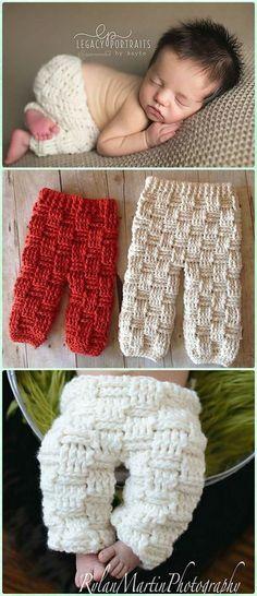 Crochet Basket Weave Baby Pants Paid Pattern - Crochet Baby Pants Free Patterns