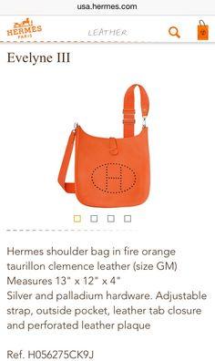 5acd5e836a6c get hermes evelyne on pinterest hermes leather and shoulder straps c4dde  3d54d