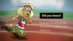 Exercise your mind, stay in shape! Stay In Shape, Willpower, Did You Know, Mindfulness, Exercise, Fictional Characters, Ejercicio, Excercise, Work Outs