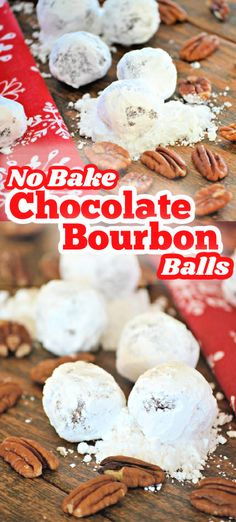 These No-Bake Chocolate Bourbon Balls are a festive holiday treat that you won't have to turn the oven on to make. Cocoa powder and bourbon are a great combination that all the adults can enjoy.