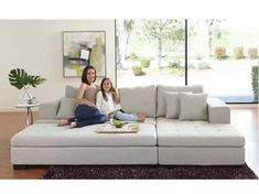 What a great book reading couch :) Mirak Sectional with Ottoman - Scandinavian Designs Home Living Room, Living Room Designs, Living Room Decor, Home Decor Furniture, Living Room Furniture, Pit Couch, Cozy Couch, Deep Couch, Home Building Design