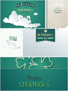 Saint Patrick's Day green card set vector | CGIspread | Free download