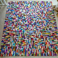 holey moley. Quilt from tiny scraps