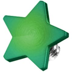 Green Titanium 4mm Flat Star Dermal Top