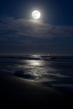 Beautiful Beach Moon