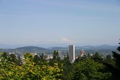 This is the view I shot of Mount Hood from the Japanese Gardens in Portland! The Gardens are gorgeous to walk in and what a view.