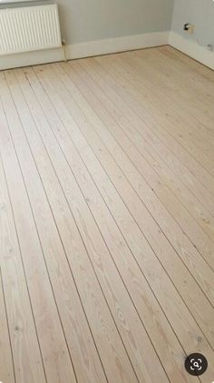 WOCA Wood Lye in White finished with WOCA Diamond Oil in White over white pine floors. Pine Wood Flooring, Farmhouse Flooring, Pine Floors, Timber Flooring, Kitchen Flooring, Hardwood Floors, Diy Wood Floors, White Wash Wood Floors, Painted Wood Floors