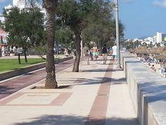Die Strandpromenade Cala Millor - Strand Cala Millor, Mallorca