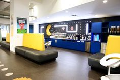"""Google Office - A Tour Of Google's Offices - 2012 - one of the many """"micro"""" kitchens"""
