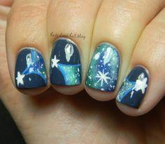 Neverland Nail Blog: Shooting Star Galaxy Mani!