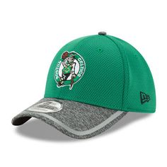 size 40 08c3c 7d3a1 Men s New Era Kelly Green Heathered Gray Boston Celtics Training 39THIRTY  Flex Hat