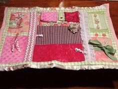 Royal Pink Sensory Fidget Lap Quilt for dementia by TreasureCreek, $40.00
