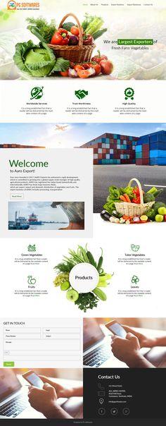 Vegtables & Fruits Export Business - Responsive Website Template #website #exports #template #wordpress #theme #import #vegtable exports