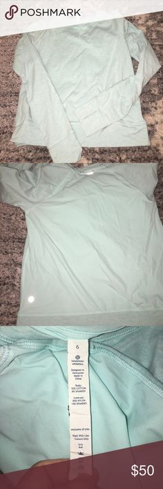 Lululemon pullover Brand new, worn maybe once. Color is turquoise lululemon athletica Tops Tees - Long Sleeve