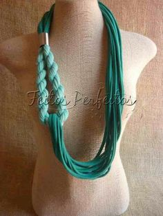 T-shirt yarn necklace -The link doesn't have a tutorial but I think I can figure it out