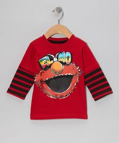 Another great find on #zulily! Red Stripe Elmo Sunglasses Layered Tee - Toddler #zulilyfinds