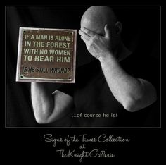 The Truth About Men (Plaque) by TheKnightGallerie on Etsy