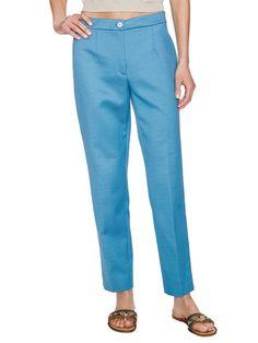 Classic Basket Weave Trouser in Blue by Dolce & Gabbana
