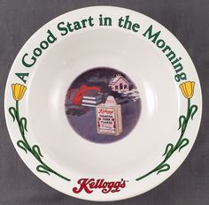 Kellogg's Collector Cereal Bowl Ceramic A Good Start In The Morning #2 of 4  | eBay