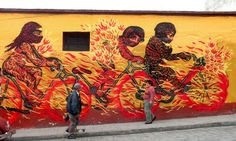 Oaxaca: Murals from artists associated with Espacio Zapata. There are shows of local artists at their studios.