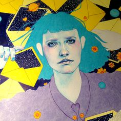 """Natalie Foss - More WIP!  Artwork for the upcoming """"Time Machine""""..."""