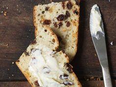 Irish Soda Bread With Raisins And Caraway With All-purpose Flour, Sugar, Baking Powder, Salt, Baking Soda, Unsalted Butter, Raisins, Caraway Seeds, Buttermilk, Large Eggs