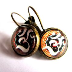 Om Earrings Yoga Namaste Fashion Jewelry by gimmethatthing on Etsy