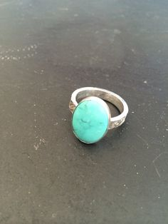 Beautiful sterling silver ring with a turquoise by GGsGems16, $42.00