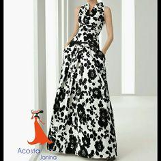 Vestido largo con estampado