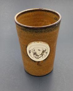 Labrador-Retriever-Dog-Pottery-Mug-Stein-Sunset-Hill-Stoneware-Rare-OOP