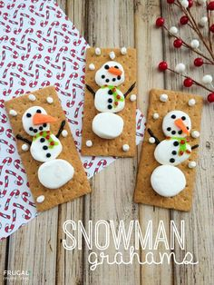 Snowman Desserts and Easy Snowman Treats. If winter days make you long to build a snowman, then snowman desserts and easy snowman treats are the warmest and yummiest holiday ideas!
