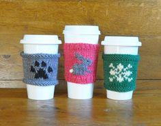 Coffee Cozies: Paw Print, Bunny, Snowflake