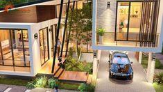 แบบบ้านโมเดิร์นชั้นครึ่ง 3 ห้องนอน 2 ห้องน้ำ สวยทันสมัย อบอุ่นน่าอยู่ - ที่นี่มีสาระ Modern Bungalow House, Rural House, Bungalow House Plans, Unique House Design, House Front Design, Beautiful House Plans, Beautiful Homes, 2 Storey House Design, Model House Plan