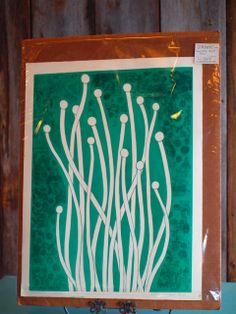 """""""Sprouts"""" lino-cut by Erin Jorgesen"""