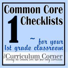 common core checklist 1st