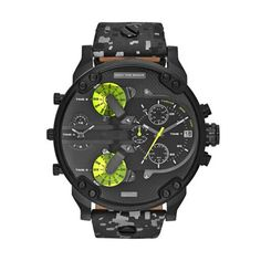 Diesel Men's Mr Daddy Quartz Stainless Steel Chronograph Watch, Color: Gold-Tone (Model: – Fine Jewelry & Collectibles Army Watches, Watches For Men, Wrist Watches, Apple Watch Fashion, Daddy, Diesel Watch, Black Leather Watch, Popular Watches, Smartwatch