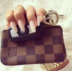 Nails. Louis, key fob, and chunky gold watch..yep, it's a go!!