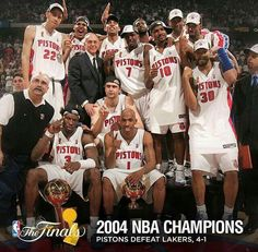 This Day In Sports History (June - Detroit Pistons Detroit Basketball, Pistons Basketball, Detroit Sports, Bad Boy Pistons, Basketball Pictures, Wnba, Detroit Pistons, Nba Champions, Sports Stars